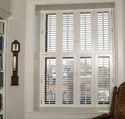 Custom Interior Wood Shutters Back Bay Shutter Company Boston Ma